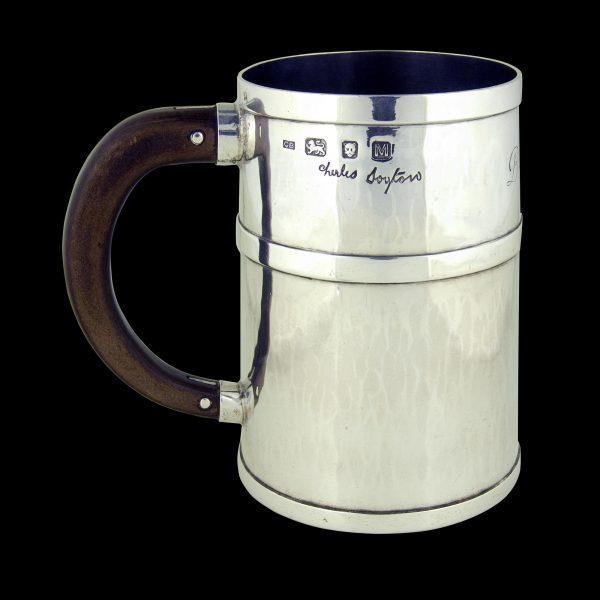 Antique Silver Art Deco Mug
