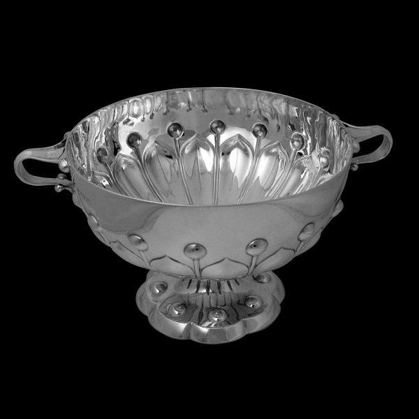 English Silver Antique Art Nouveau Bowl
