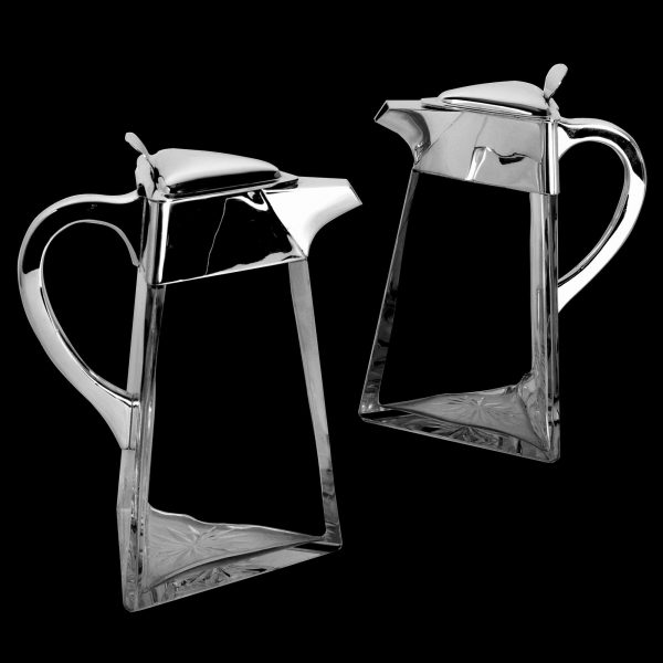English Antique Silver Claret Jugs