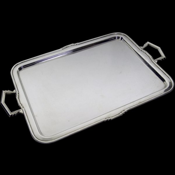 English Antique Silver Art Deco Tray