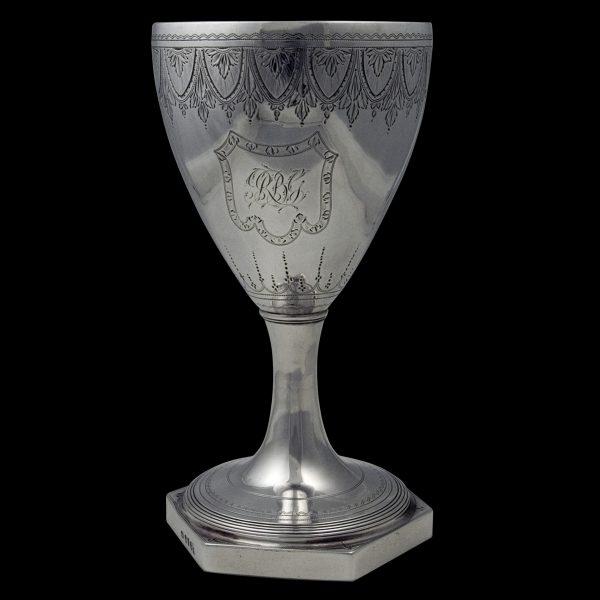 Antique English Georgian Silver Wine Goblet