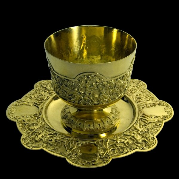 Antique silvergilt cup on stand