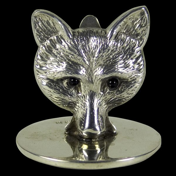 Silver Fox Head place-card holders