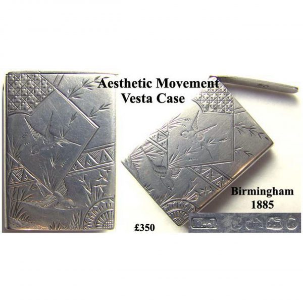 Antique Silver Vesta Case
