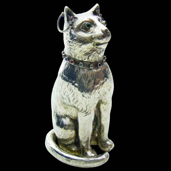 Antique Silver Cat