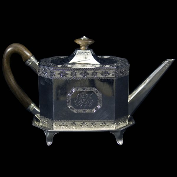 Antique Silver Teapot and Stand