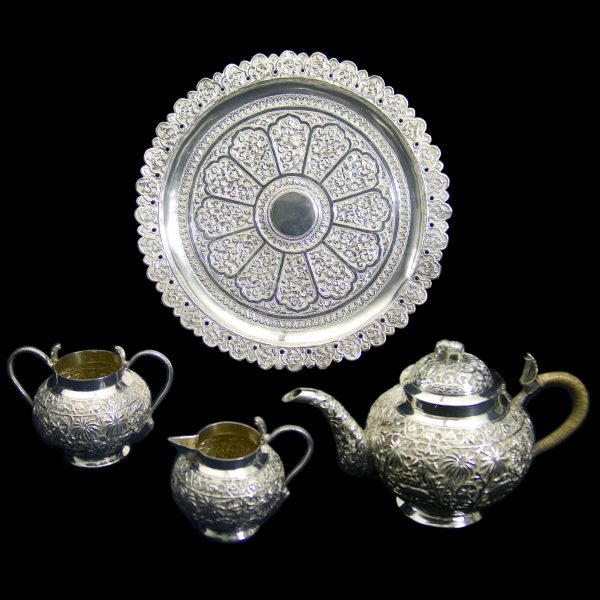 Antique Indian Silver Teaset