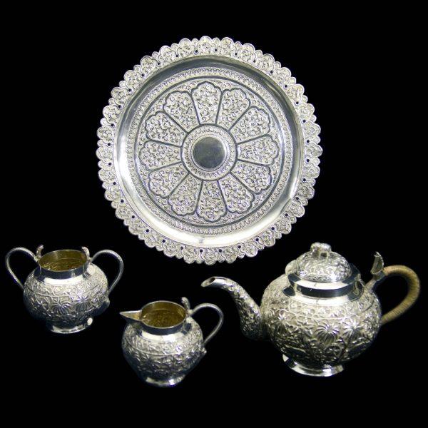 Antique Indian Silver Teaset