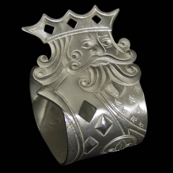 New Silver 'King of Diamonds' Napkin Ring