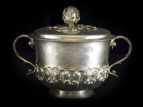 A Superb quality large Charles II Covered Porringer