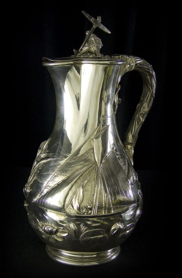 A Silver wine jug (Royal Yachting interest)