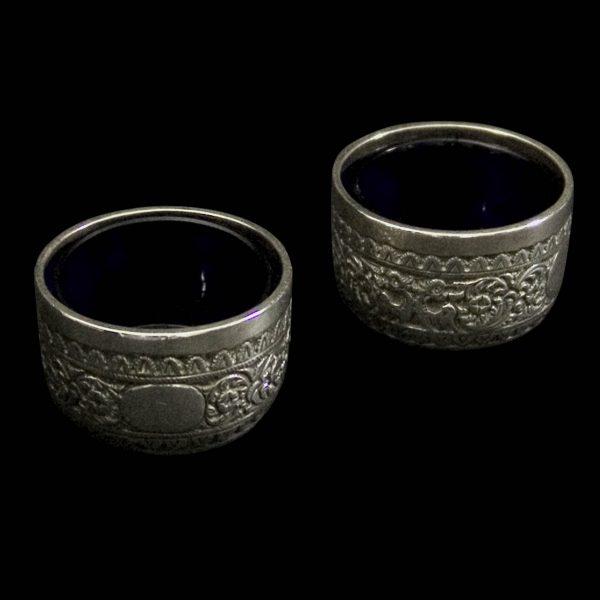 English Antique silver salts