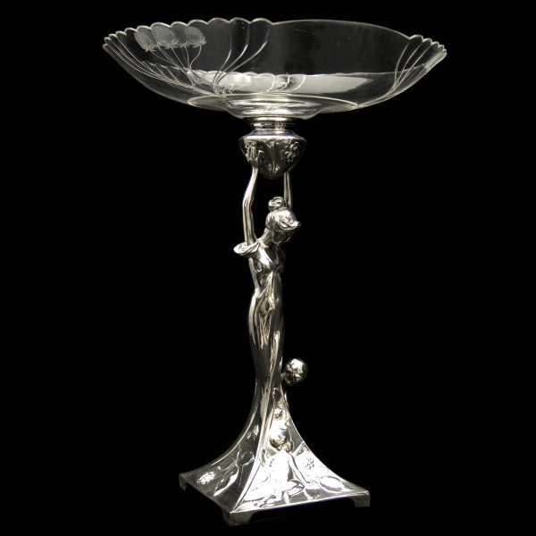WMF  Early C20th Silver Plated Art Nouveau Centre Piece
