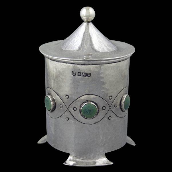 Art Nouveau Antique English Silver Tea Caddy