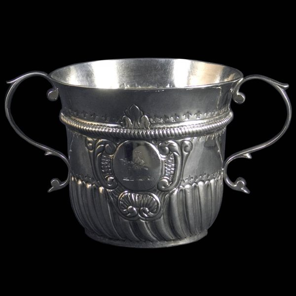 Antique English Silver Two Handled Cup