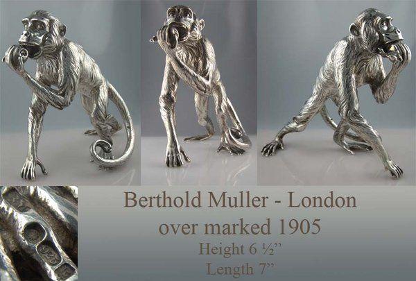 Fine Sterling Silver monkey figurine