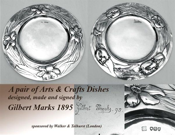 Pair of Arts & Crafts Dishes