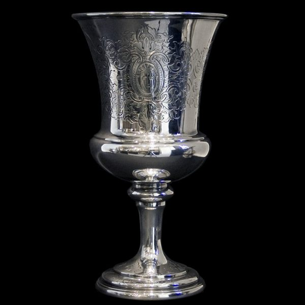 Scottish silver wine goblet