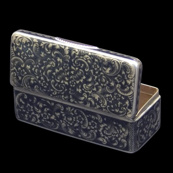 Antique Russian Silver and Enamel Box