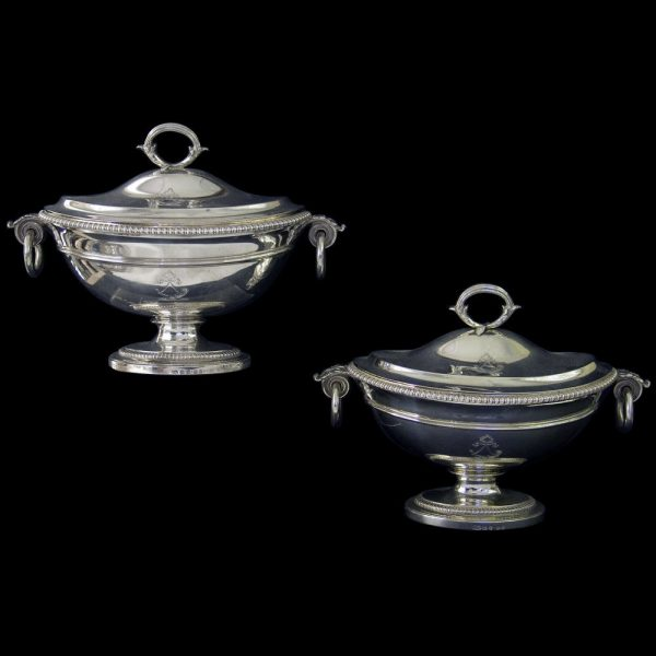 PAUL STORR Antique English Silver Sauce Tureens