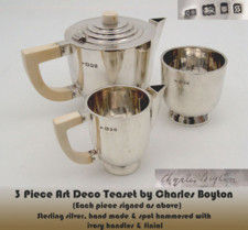 Three piece Charles Boyton  tea set