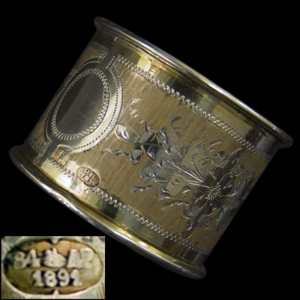 Antique Russian Silver-gilt Napkin Rings