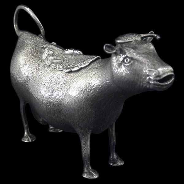 Antique English Silver Cow Creamer