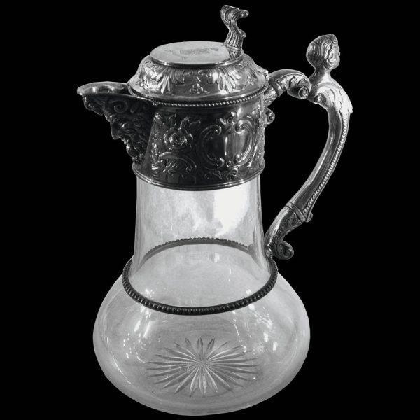Antique English Silver Claret Jug