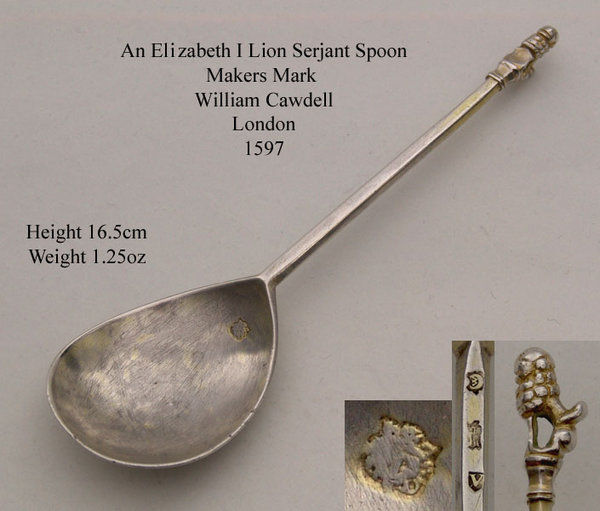 An Elizabeth I Lion serjant spoon