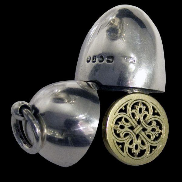 English Antique Silver Vinaigrette
