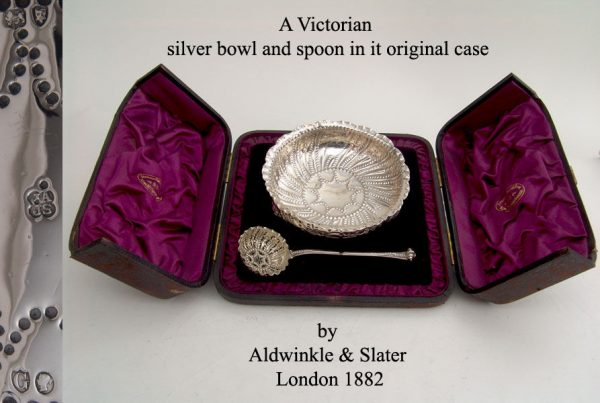 A victorian bowl and spoon