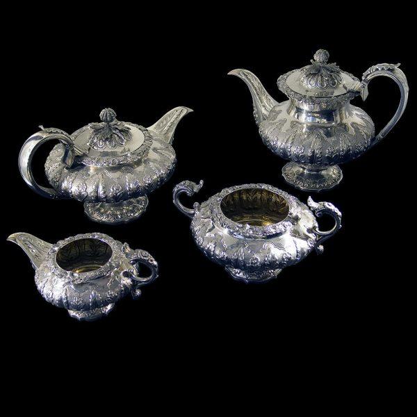 English Antique Silver Tea Set