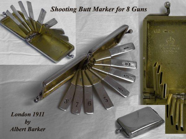 A sterling silver Butt Marker for 8 guns
