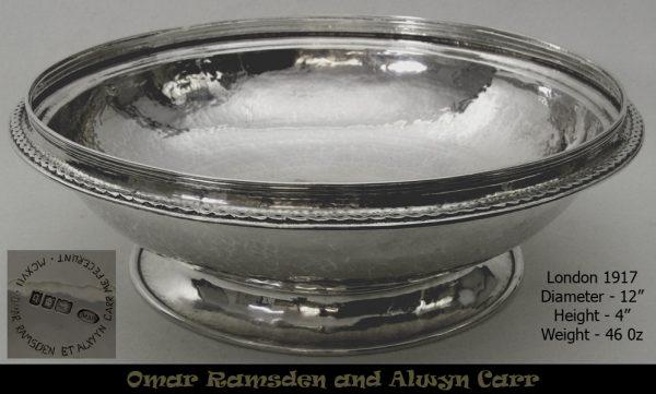 Hand hammered bowl