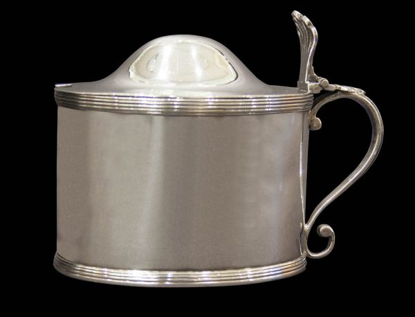 Antique silver English George III silver mustard pot