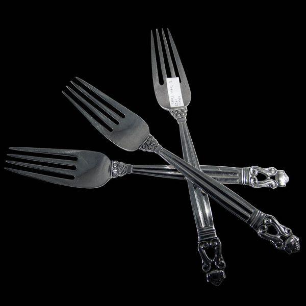 Acorn/Konge Pattern Table Fork x 3