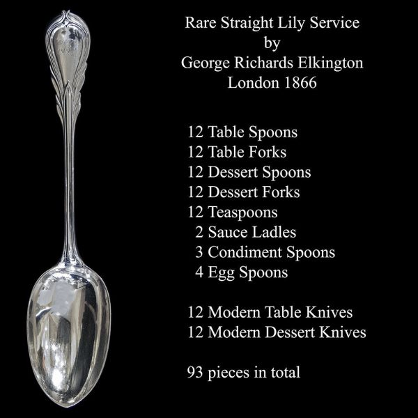 Antique Victorian English Silver Flatware