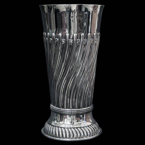 Antique Victorian English Silver Vase