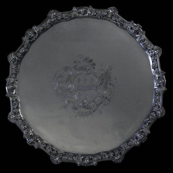 Large George II Salver by Edward Wakelin