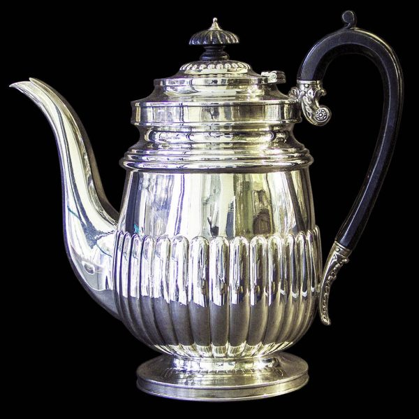 English Antique Sterling Silver Georgian Hot Water Jug