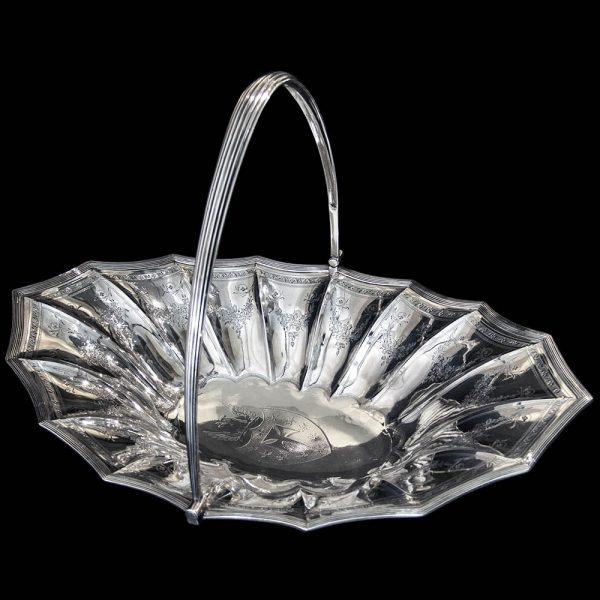 Antique English Georgian Silver Basket