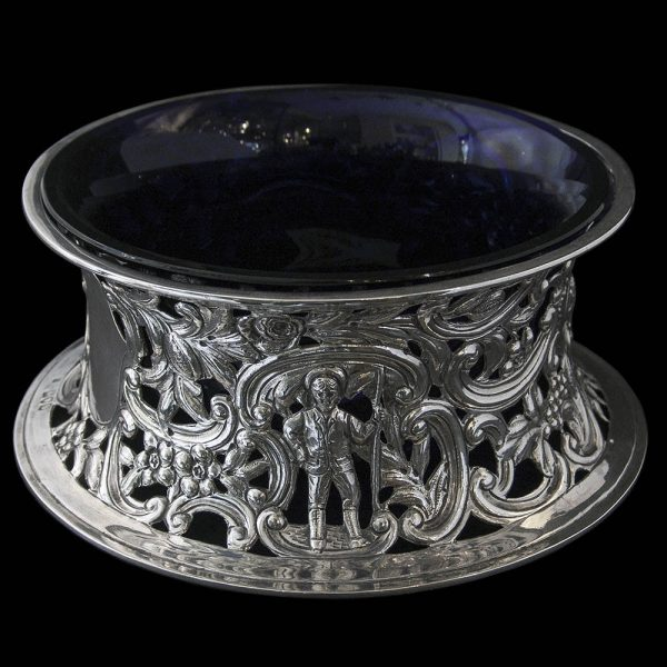 Antique English Victorian Sterling Silver Dish Ring