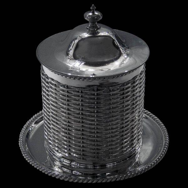 Antique English Edwardian Silver Preserve Jar
