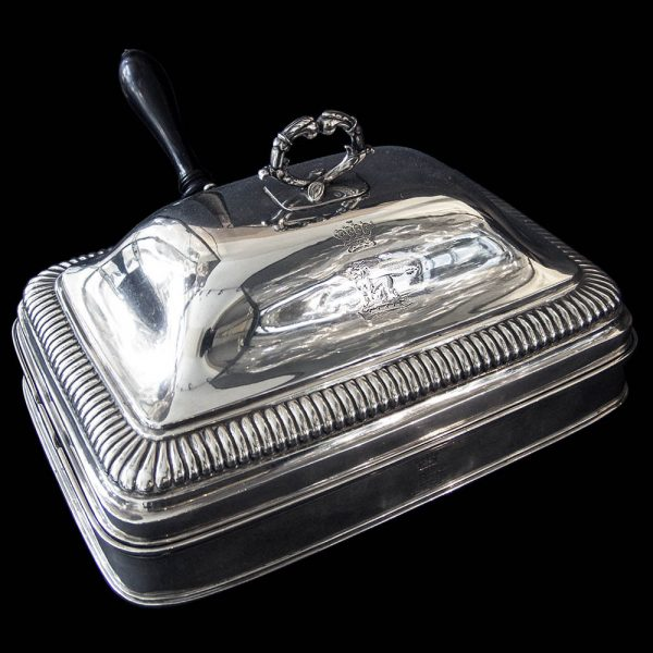 Antique English Georgian Silver Cheese Dish by Paul Storr